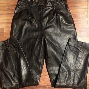 VTG Italian Leather moto biker pants